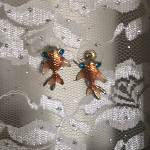 Betsey Johnson fish earrings!